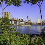"""Brooklyn Bridge & World Trade Center"" by RickWoehrle"