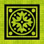 """Chartreuse Tile No.1"" by bonniebruno"