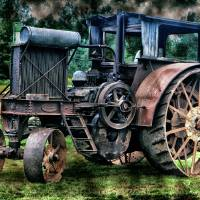 Vintage Farm Tractor by Lisa Rich