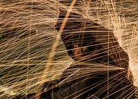 Steel wool Portrait