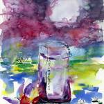 """Kenzo Leaupar Perfume Bottle Eau Indigo"" by GinetteCallaway"