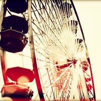 Santa Monica Wheel 2 Art Prints & Posters by Chris Andruskiewicz