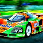 """MAZDA 787 B, 1991  LeMans winner"" by ArtbySachse"