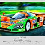 """The 787B 1991 LeMans Winner"" by ArtbySachse"