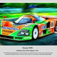 The 787B 1991 LeMans Winner Art Prints & Posters by Tom Sachse
