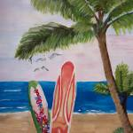 """Caribbean Strand with Surf Boards"" by arthop77"