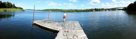 Swedish jetty swimmer