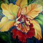 """TROPICAL ORCHID"" by MBaldwinFineArt2006"