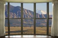 Colorado Flatirons with Longs Peak Bay Window View