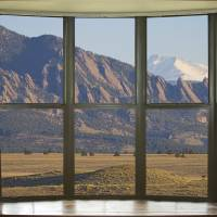 Colorado Flatirons with Longs Peak Bay Window View Art Prints & Posters by James