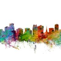 """Orlando Florida Skyline"" by ModernArtPrints"