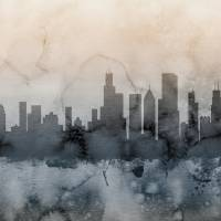 Chicago Illinois Skyline Art Prints & Posters by Michael Tompsett
