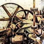 """Wheels and Gears in Grist Mill"" by susansartgallery"