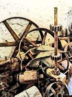 Wheels and Gears in Grist Mill