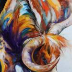 """""""LONGHORN ABSTRACT"""" by MBaldwinFineArt2006"""