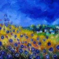 blue cornflowers 7741 Art Prints & Posters by pol ledent