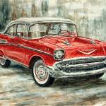 """1957 Chevrolet Bel Air Sport Coupe"" by JoeyAgbayani"