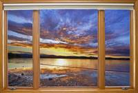Colorful Waterfront Classic Wood Window View