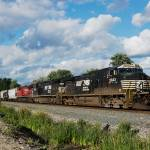 """Norfolk Southern Freight Train"" by StonePhotos"