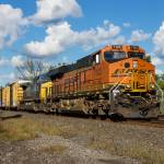 """BNSF 7103 On The Lead"" by StonePhotos"