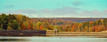 Fall Day at the Dam