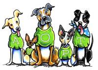 Adopt Shelter Dogs Green Tees
