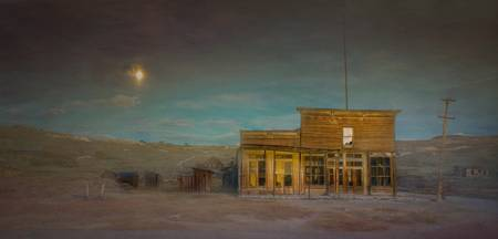 Ghost Town of Bodie Moonrise