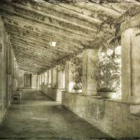 Carmel Mission Corridor Art Prints & Posters by Betty Sederquist