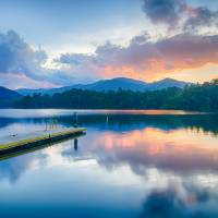 lake santeetlah north carolina Art Prints & Posters by Alexandr Grichenko