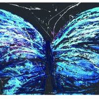 Butterfly Blue for Imagekind Art Prints & Posters by Roderick MacIver