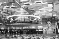 Changi airport Singapore, black/white