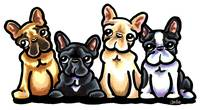 Four Frenchies