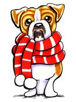 Bulldog Red Scarf