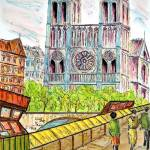 """notre dame cathedral"" by FradetFineArt"