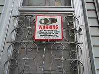 Warning Sign On Door