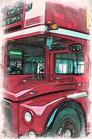 Red Routemaster bus