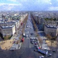 Paris Seen from the Arch Art Prints & Posters by Dean Wittle