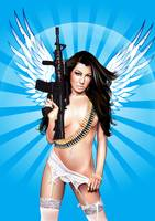 The angel with the gun