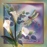 """""""Dragonfly Dream in Purple and Green"""" by Unique_designs"""