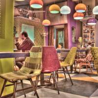 HDR Inside a European Cafe Art Prints & Posters by Matthew Bamberg