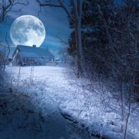 Full Moon Art Prints & Posters by Dapixara Art