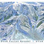 """Deer Valley 2014 Trail Map Image"" by jamesniehuesmaps"