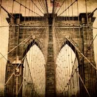 Brooklyn Bridge Nostalgia Art Prints & Posters by Jessica Jenney