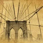"""Brooklyn Bridge Postcard"" by JessicaJenney"