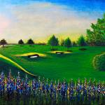 """Golf Course Sunrise Landscape 1"" by Ricardos"