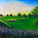 """Golf Course Sunrise Landscape 1"" by Ricardos"