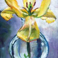 LILY IN GLASS Art Prints & Posters by David Lloyd Glover