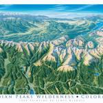 """""""Indian Peaks Wilderness, Colorado"""" by jamesniehuesmaps"""