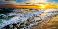 beautiful ocean sunrise golden beach sunset prints