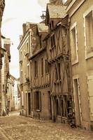 Narrow Cobbled Street in Sepia
